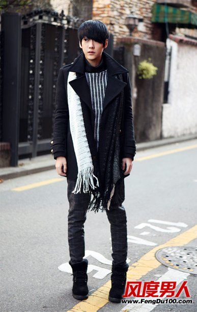 资讯生活冬季黑色服饰酷帅搭配男士俊朗气息